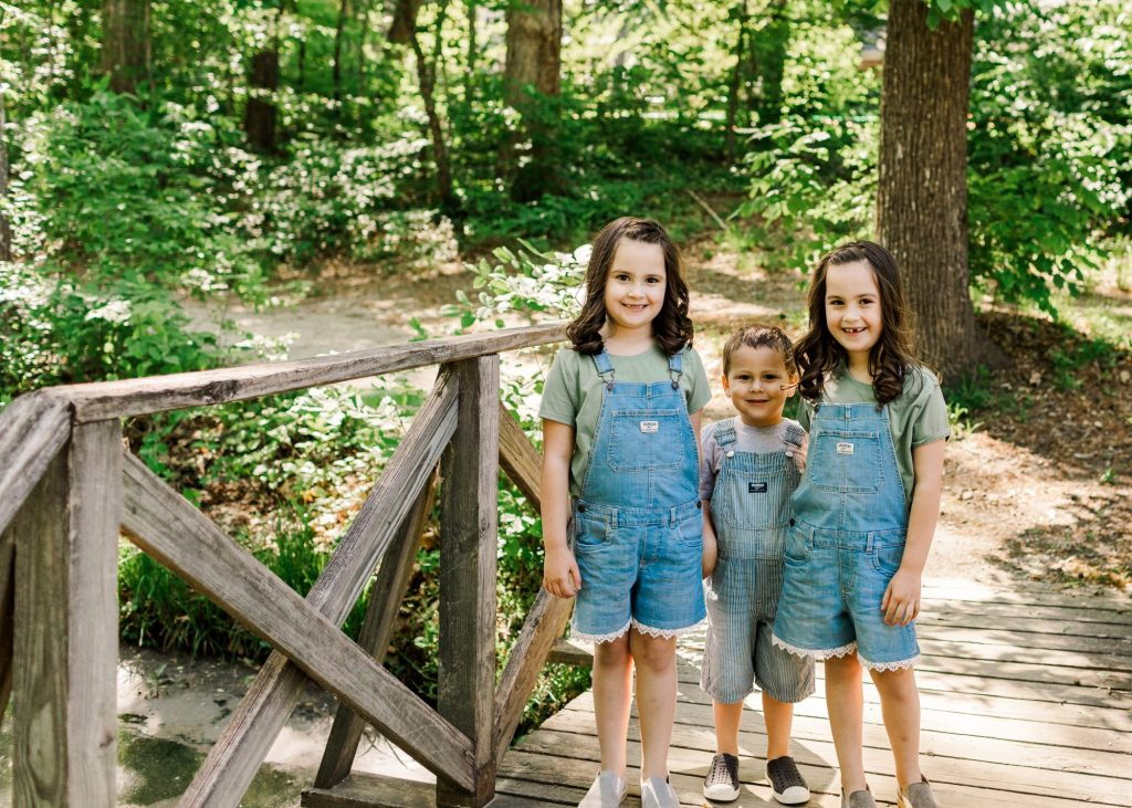 Family photos in Summerfield, NC with Brooke Grogan Photography.
