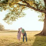Engagement photos at Summerfield Farms