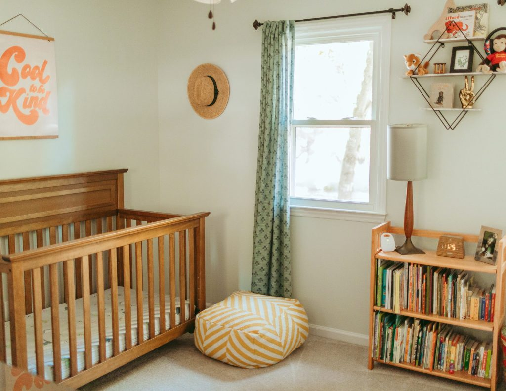 How to decorate a nursery for less than $200. Brooke Grogan Photography.