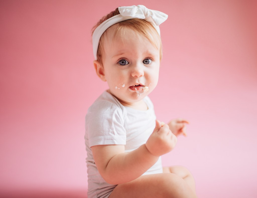 First birthday pictures with Brooke Grogan Photography in Greensboro, NC.